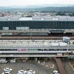 高架化工事中のJR旭川駅