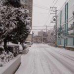 雪景色の札幌市内